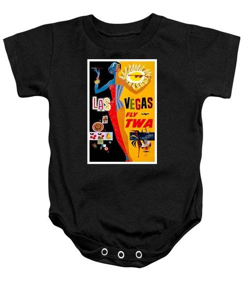 Vintage Travel Poster - Las Vegas Baby Onesie