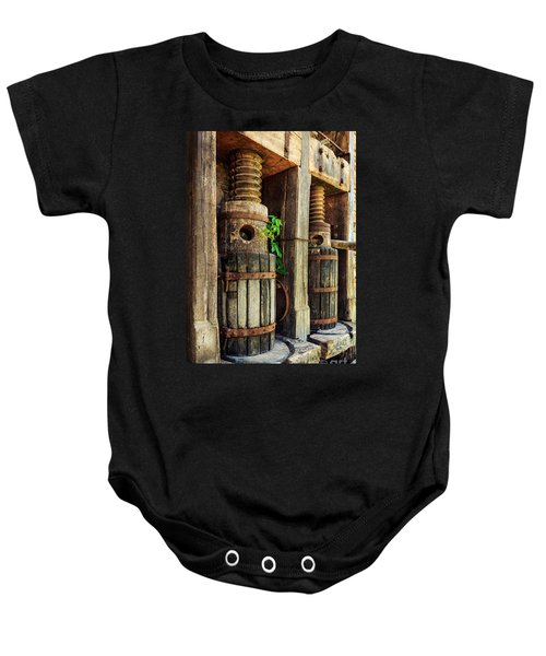 Vintage Wine Press Baby Onesie