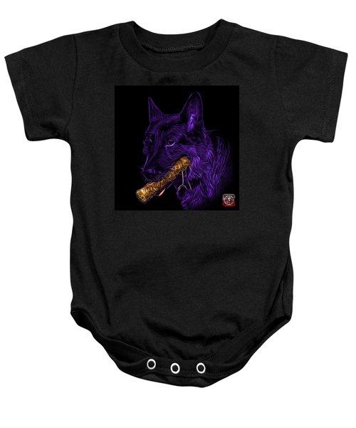 Violet German Shepherd And Toy - 0745 F Baby Onesie