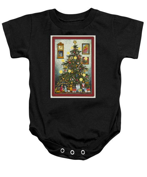 Waiting For Christmas Morning Baby Onesie