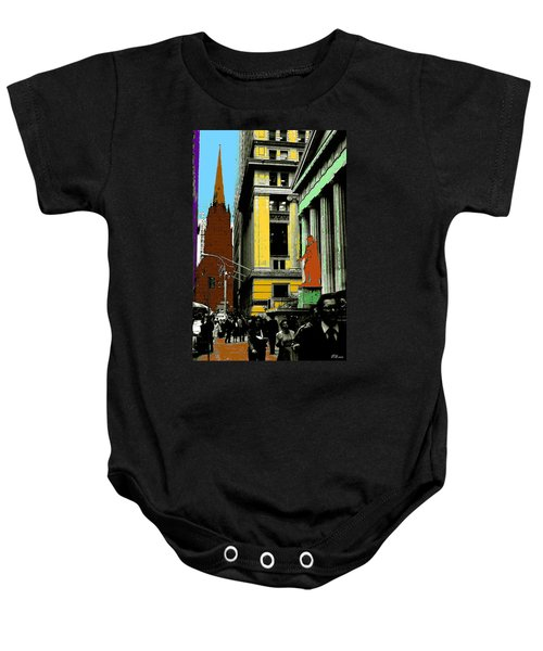 New York Pop Art 99 - Color Illustration Baby Onesie