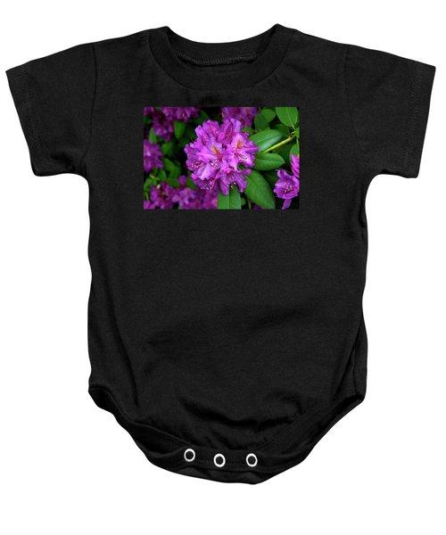 Washington Coastal Rhododendron Baby Onesie