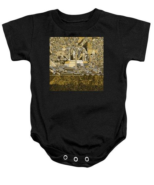 Washington Dc Skyline Abstract 4 Baby Onesie