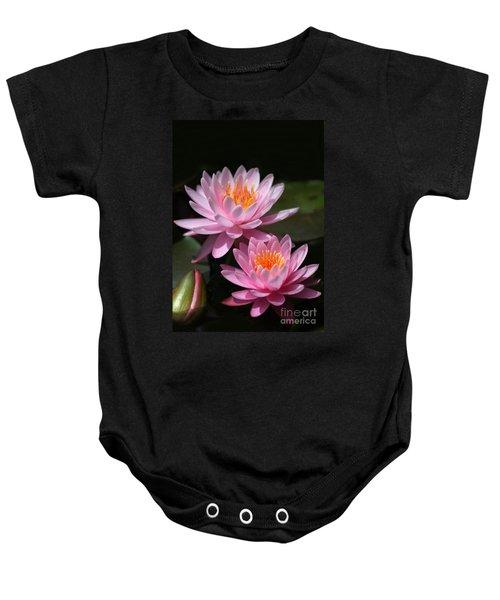 Water Lilies Love The Sun Baby Onesie