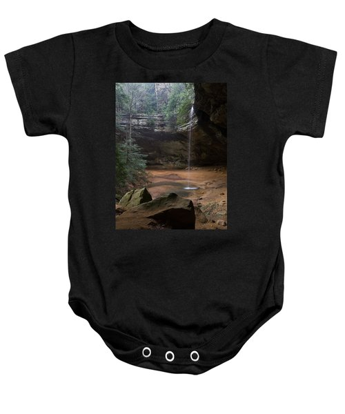 Waterfall At Ash Cave Baby Onesie