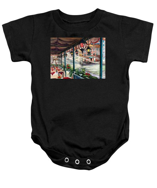 Waterfront Cafe Baby Onesie