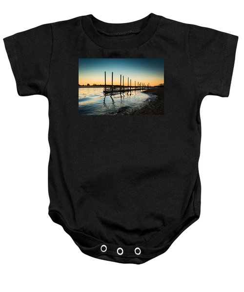 Wavy Sunset Kings Park New York Baby Onesie