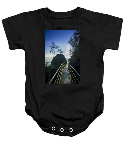 Way Into The Light On Neurathen Castle Baby Onesie