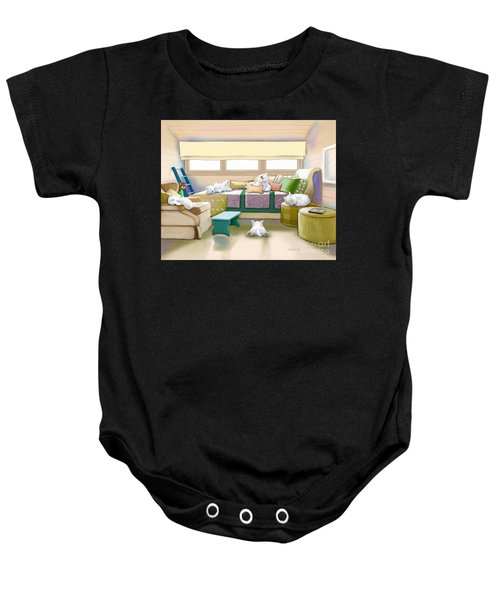 Westie Retreat  Baby Onesie