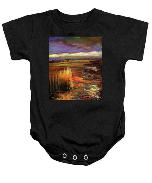 Wetlands Sunset Iv Baby Onesie