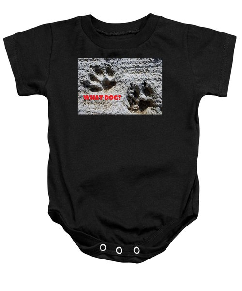 What Dog Baby Onesie