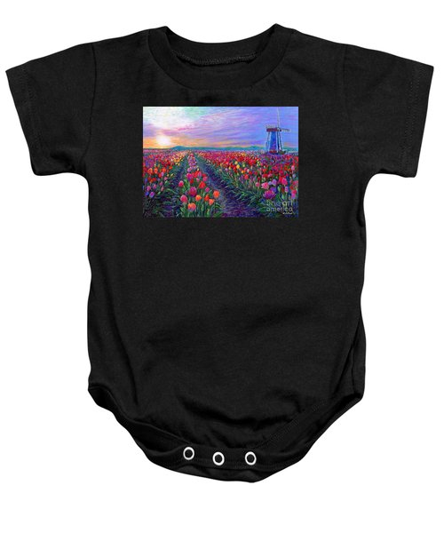Tulip Fields, What Dreams May Come Baby Onesie