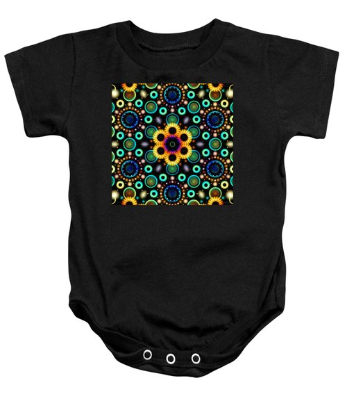 Wheels Of Light Baby Onesie