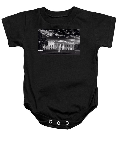 White House Sunrise B W Baby Onesie