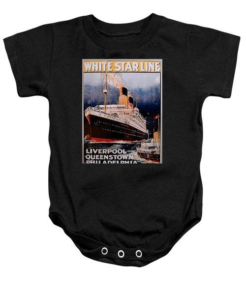 White Star Line Poster 1 Baby Onesie