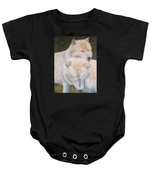 White Wolves - Loup Blanc - Parc Omega Baby Onesie