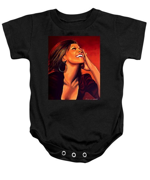 Whitney Houston Baby Onesie by Paul Meijering