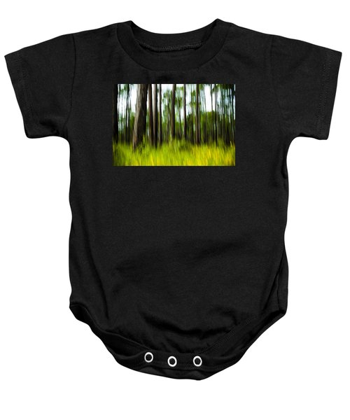Wildflowers In The Forest Baby Onesie