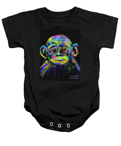 Wildlife Baby Chimp Baby Onesie