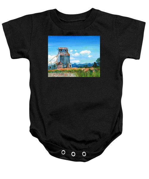 Willow Creek Grain Elevator II Baby Onesie
