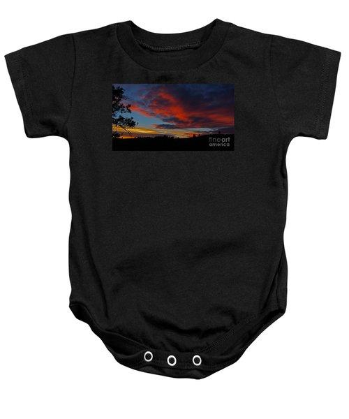 Black Hills Sunset Baby Onesie