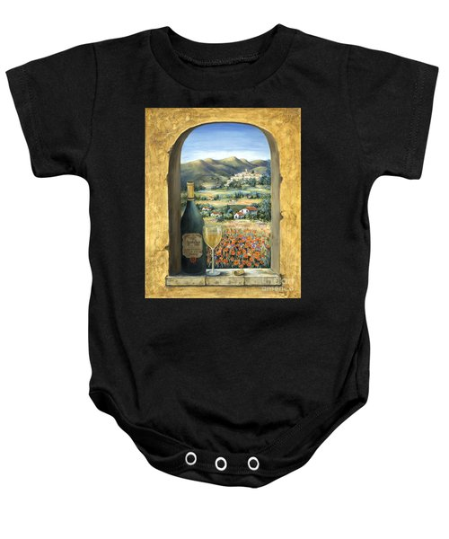 Wine And Poppies Baby Onesie