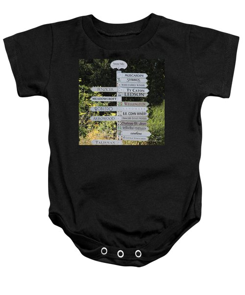 Winery Street Sign In The Sonoma California Wine Country 5d24601 Square Baby Onesie