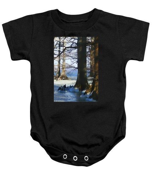 Winter At Reelfoot Lake Baby Onesie