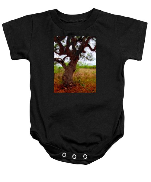 Da214 Wise Old Tree By Daniel Adams Baby Onesie