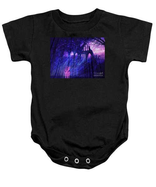 Wolf And Magic Baby Onesie