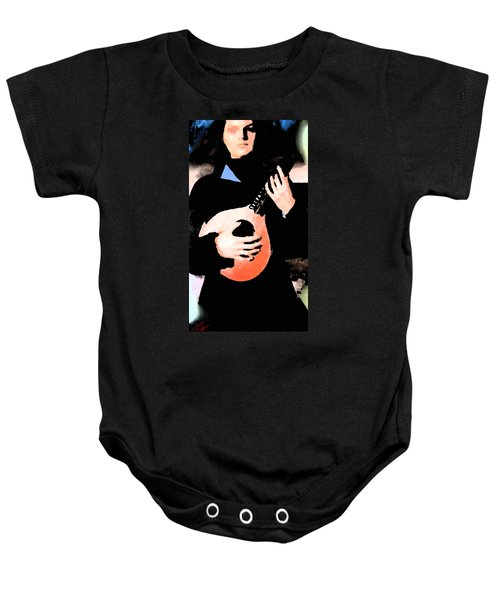 Baby Onesie featuring the painting Women With Her Guitar by Colette V Hera  Guggenheim
