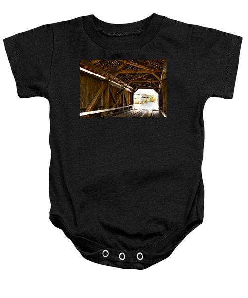 Wood Fame Bridge Baby Onesie