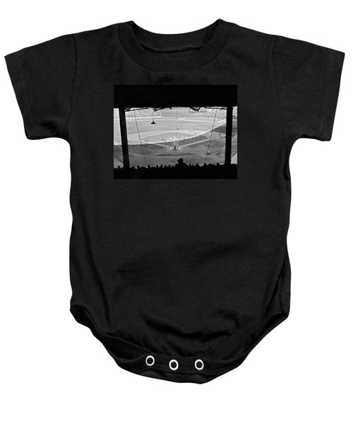 Yankee Stadium Grandstand View Baby Onesie by Underwood Archives