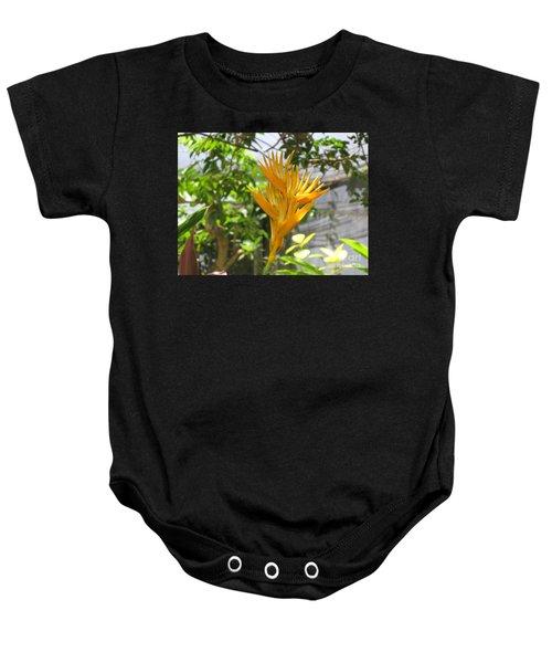 Yellow Bird Of Paradise Baby Onesie