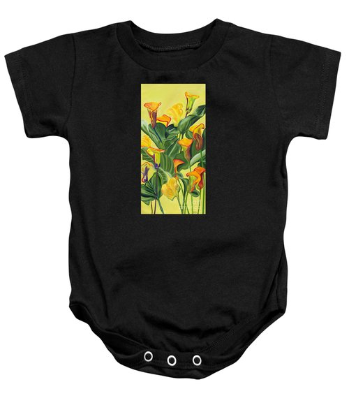 Yellow Lilies Baby Onesie