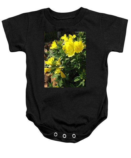 Yellow Primroses Baby Onesie