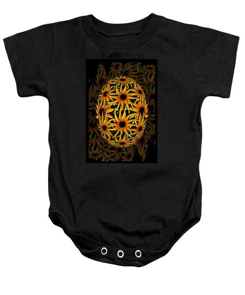 Yellow Sunflower Seed Baby Onesie