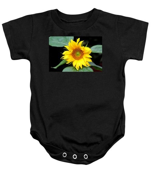 Yellow Sunflower Baby Onesie