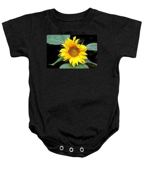 Yellow Sunflower Baby Onesie