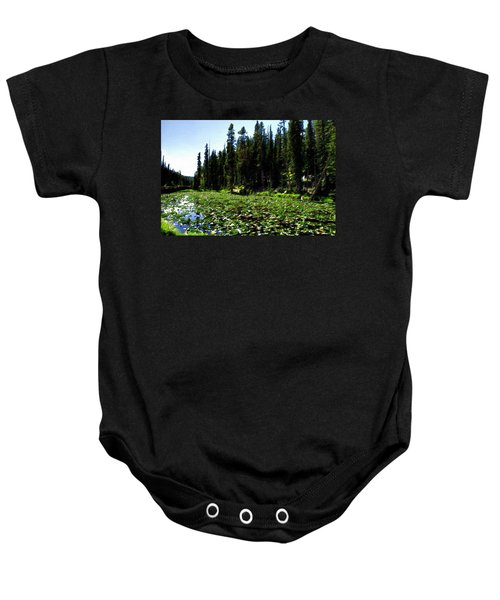 Yellowstone Lily Pads  Baby Onesie