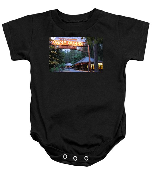 Baby Onesie featuring the photograph Yosemite Curry Village by Shane Kelly