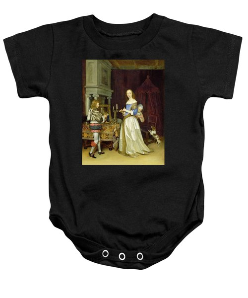 A Lady At Her Toilet Baby Onesie