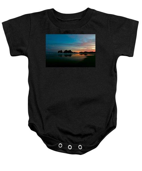 Golden Morning At A Beach  Baby Onesie