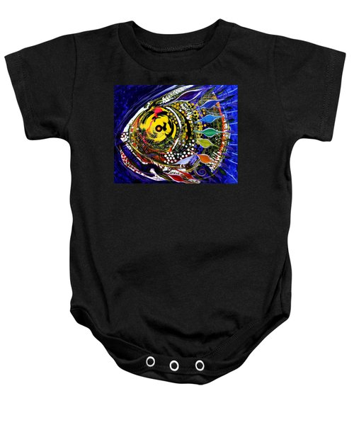 Abstract Busy Bee Fish Baby Onesie