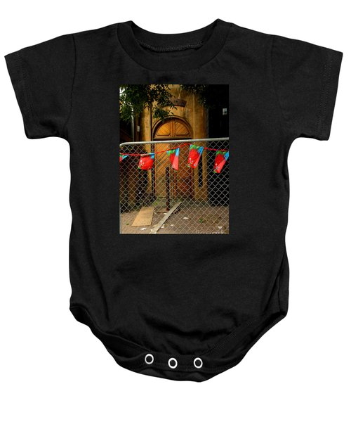After The Quakes - No Go Zone Baby Onesie by Nareeta Martin