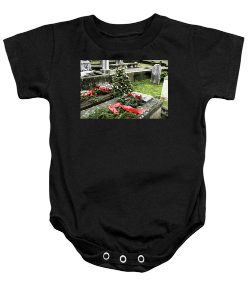 Always Home For Christmas Baby Onesie