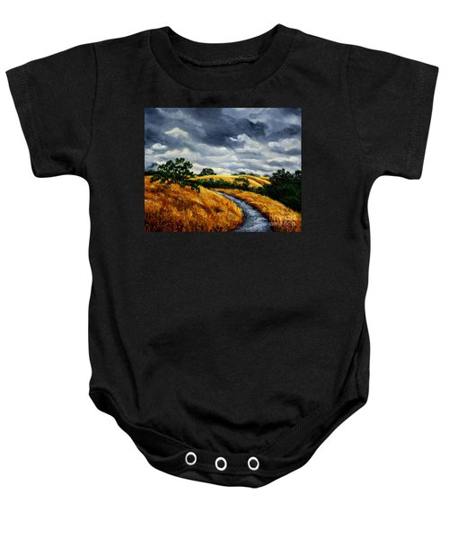 Arastradero Trail In Early Autumn Baby Onesie