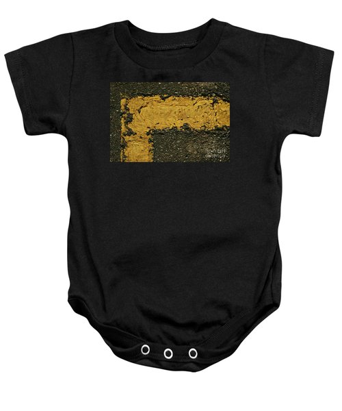 Behind The Yellow Line Baby Onesie
