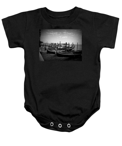 Black And White Gondolas Baby Onesie