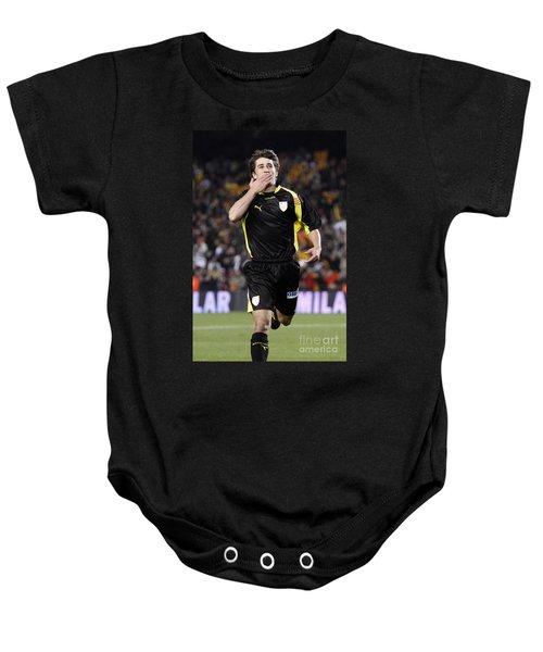 Bojan Krkic Celebrating A Goal 2 Baby Onesie